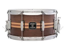 Gretssch Walnut (Maple Inlay) 13 x 7 Snare